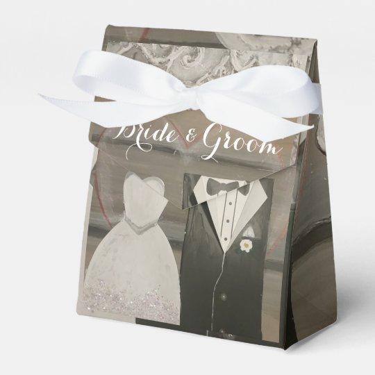 Bride & Groom Wedding Tent Favour Box