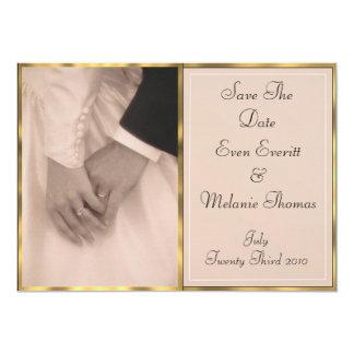 Bride & Grooms Hands 13 Cm X 18 Cm Invitation Card