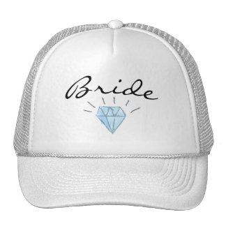 Bride Hat - brim and diamond art