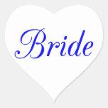 Bride Heart Stickers