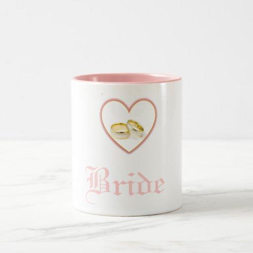 Bride Heart Wedding Rings Mug