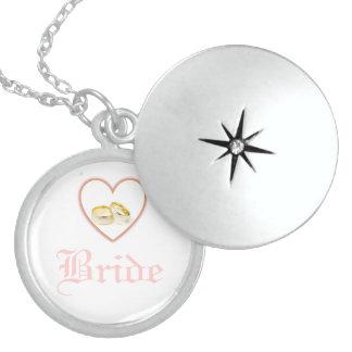Bride Heart Wedding Rings Sterling Silver Locket