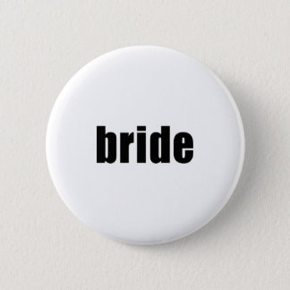 Bride in Black and White 6 Cm Round Badge