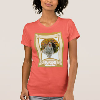 Bride in front of a church window T-Shirt