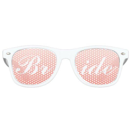 Bride in Script Sunglasses | Blush Pink Shades