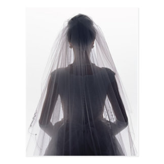 Bride in Wedding Gown Post Cards