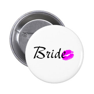 Bride Kiss 6 Cm Round Badge