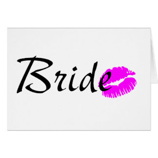 Bride Kiss Greeting Card