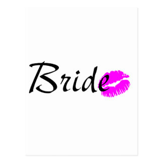 Bride Kiss Postcard