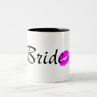Bride Kiss Two-Tone Coffee Mug