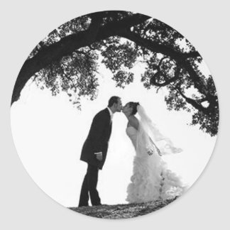 Bride Kiss under Oak Sticker