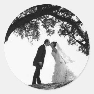 Bride Kiss under Oak Sticker
