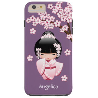 Bride Kokeshi Doll - Cute Oriental Geisha Girl Tough iPhone 6 Plus Case