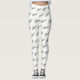 Bride Leggings - Black on White