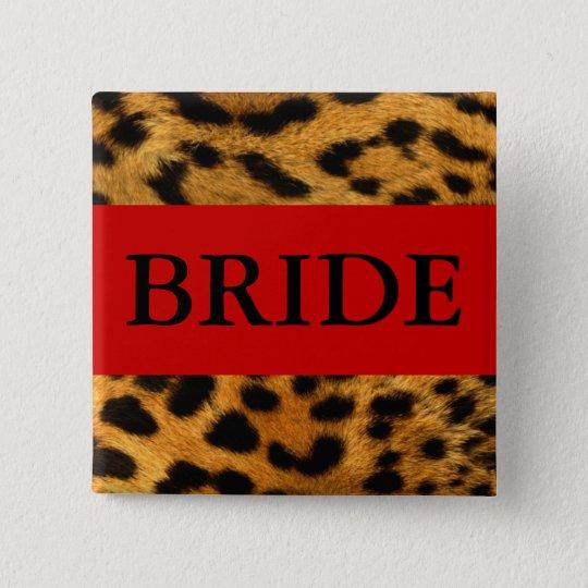 Bride Leopard Button