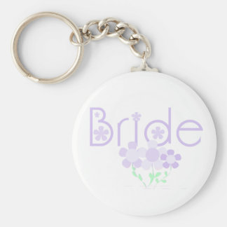 Bride Lilac Flowers Tshirts and Gifts Key Chain