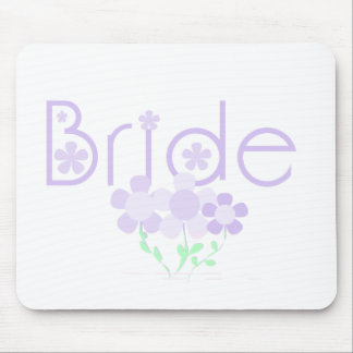 Bride Lilac Flowers Tshirts and Gifts Mouse Pads