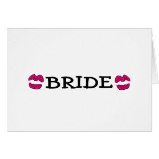 Bride (Lips Kiss) Greeting Card