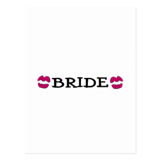 Bride (Lips Kiss) Postcard