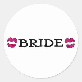 Bride (Lips Kiss) Round Sticker
