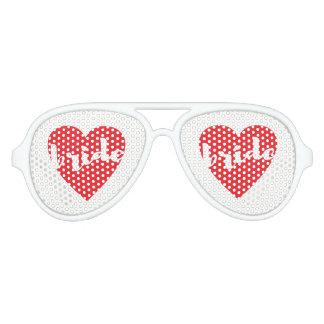 Bride Love Heart Aviator Sunglasses