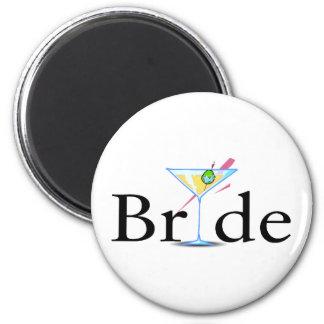 Bride Martini 6 Cm Round Magnet