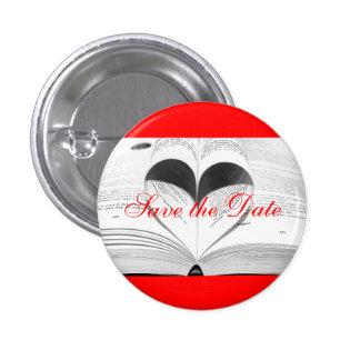Bride Monogram Wedding Books Cute Save the Date 3 Cm Round Badge