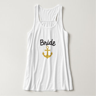 Bride Nautical Anchor Gold Foil Tank