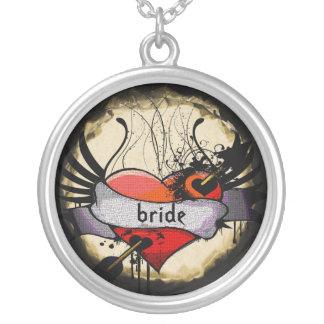 Bride Necklace Grunge Burnt Parchment
