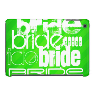 Bride; Neon Green Stripes iPad Mini Retina Covers