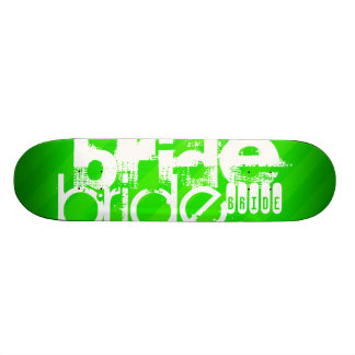 Bride; Neon Green Stripes Skate Deck