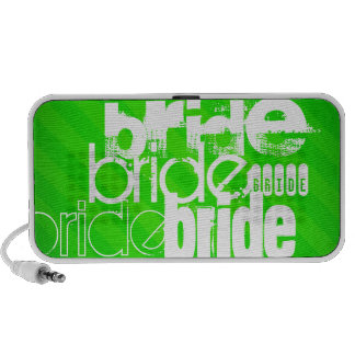 Bride; Neon Green Stripes Laptop Speakers