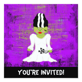 Bride Of Frankenstein Halloween Invitation