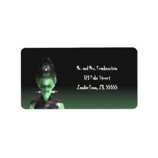 Bride of Frankenstein - Halloween Labels
