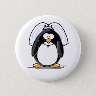 Bride Penguin 6 Cm Round Badge