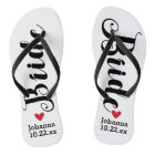 Bride Personalised Wedding Pick Your Colour Flip Flops