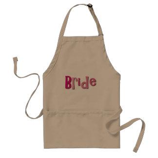 Bride Pink Brown Standard Apron