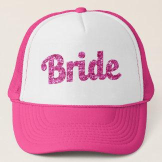 Bride Pink Glitter hat