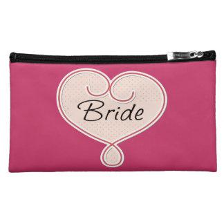 Bride Pink Heart Cosmetic Bag