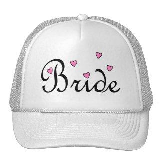 Bride Pink Hearts Cap