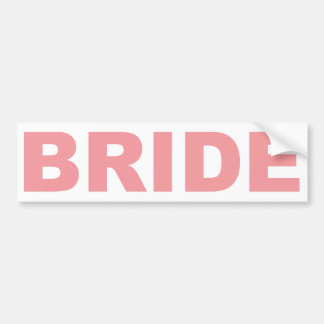Bride Pink Writing Bumper Stickers