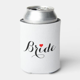 Bride Red Heart Can Cooler