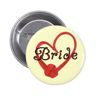 Bride Red Knot Heart Tshirts and Gifts Pins