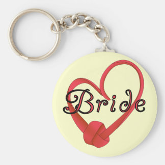 Bride Red Knot Heart Tshirts and Gifts Key Chain