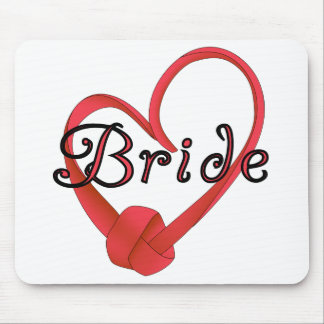 Bride Red Knot Heart Tshirts and Gifts Mouse Pad