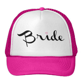 Bride Retro Script Hats