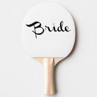 Bride Retro Script Ping Pong Paddle