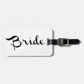 Bride Retro Script Tags For Bags