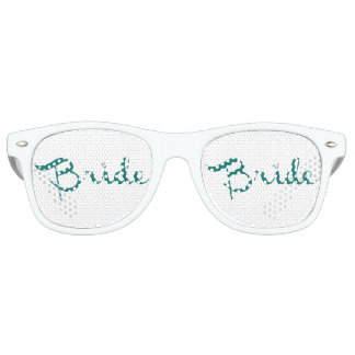 Bride Retro Script Teal Retro Sunglasses