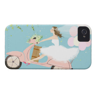 Bride Riding a Scooter iPhone 4 Case-Mate Case